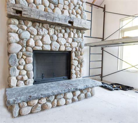 gas fireplace river rocks river rock fireplace fireplace designs