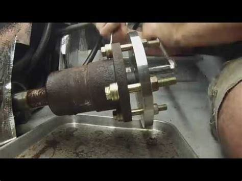 prop shaft nut coupling  seal removal part  pss seal conversion youtube