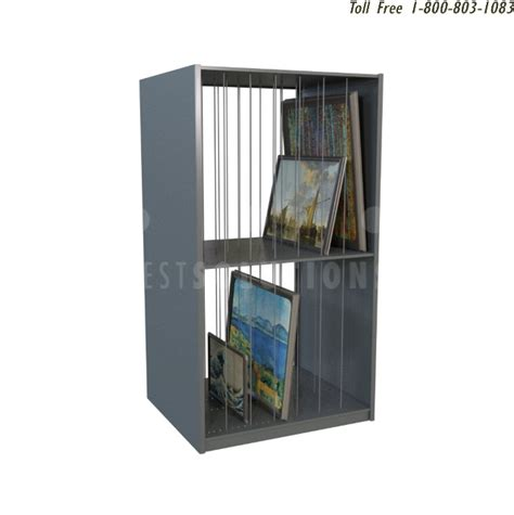 cubby framed artwork shelving  unframed art storage racks