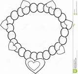 Bracelet Coloring Necklace Pages Colouring Drawing Little Einsteins Pearl Jewelry Printable Drawings 5kb 1300px 1375 sketch template