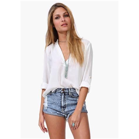blouse vs shirt womens sleeve casual v neck blouse tops t