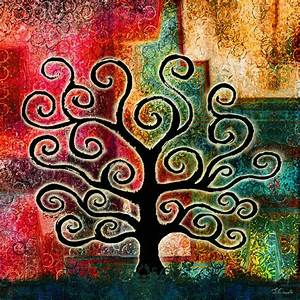 """Abstract Art Gallery: """"Tree of Life"""" Abstract Painting"""