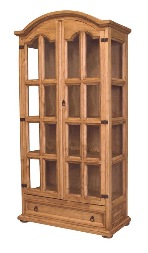 wood curio cabinet  glass doors plans diy
