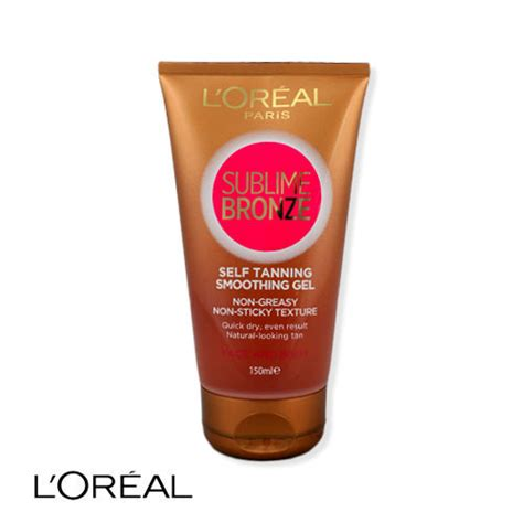 face tanning l l 39 oreal sublime bronze smoothing gel self tanning face and