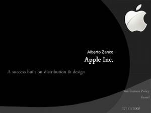 distribution policy apple With apple inc powerpoint template