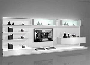 Black and white contemporary interior design ideas for for Modern cabinets for living room