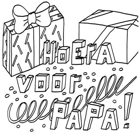 Gefeliciteerd Papa Kleurplaat gelukkige verjaardag kleurplaten beste kleurplaat