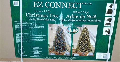 ez connect 9ft christmas tree instuctions pre lit dual color led ez connect 7 5 tree costco weekender