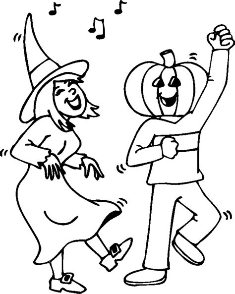halloween party coloring page coloring book