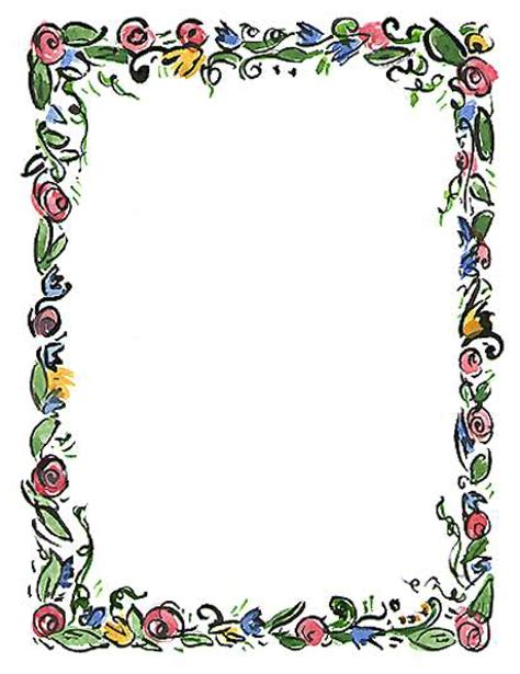 Floral Border Clip Purple Flower Clipart Page Border Pencil And In Color