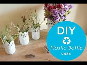 DIY plastic bottle vase - YouTube