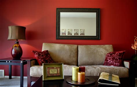 Living Room Decorating Ideas Red Walls  chicago 2021