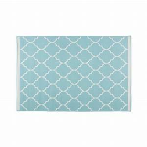 Tapis D Extérieur Maison Du Monde : tapis de jardin en tissu turquoise xcm galerie et tapis ~ Dailycaller-alerts.com Idées de Décoration