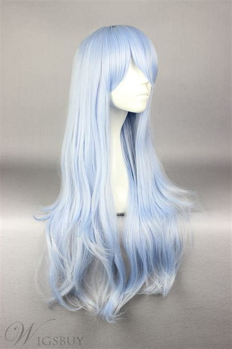 long deep wave light blue cosplay wig wigsbuycom