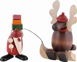 Köhler Kunsthandwerk Shop : santa claus with lazy moose 15 5 cm by bj rn k hler kunsthandwerk ~ Sanjose-hotels-ca.com Haus und Dekorationen