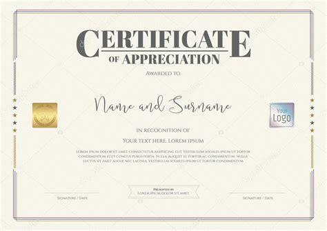 certificate templates with photos certificate of appreciation template with watermark