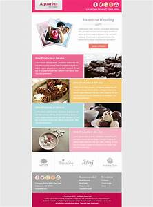 valentine email marketing newsletter template by With email advertisement template
