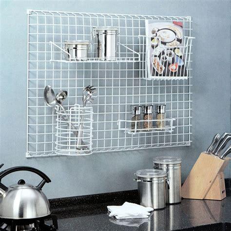 wall grid organizer 20 simple kitchen storage solutions brit co 3311