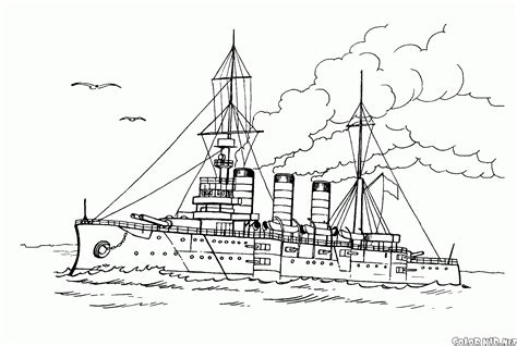 Barcos De Guerra Para Colorear by Dibujo Para Colorear Buque De Guerra