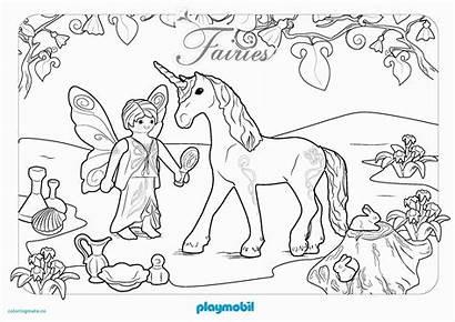 Playmobil Ausmalbild Fee Licorne Coloriage Animaux Unique