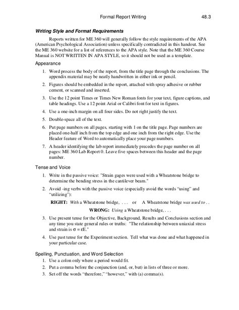 writing sle template technical report writing