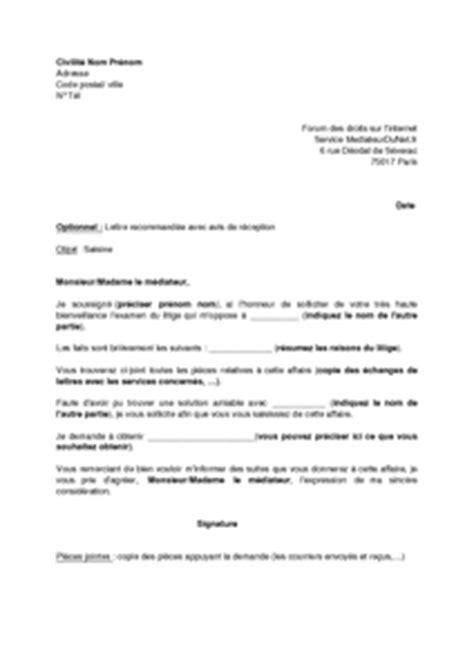 modèle lettre saisine comité médical modele lettre de recommandation fournisseur