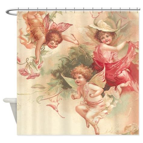 Cupid Angel 3 Shower Curtain by VintageLove1