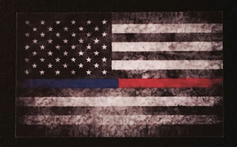 Distressed American Flag Wallpaper Tattered Police Fire Thin Blue Red Line American Flag Decals Stickers Punisher Ebay
