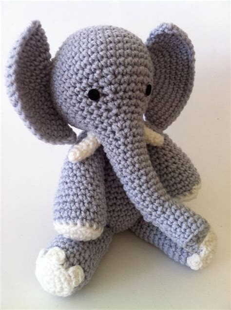 crochet elephant e is for elephant amigurumi pattern amigurumipatterns net