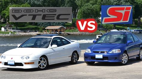 Acura Civic by Honda Battle Bros 2000 Honda Civic Si Vs Acura Integra