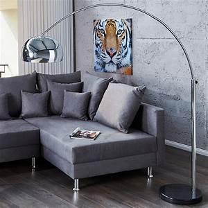 Stehlampe Retro Design : big bow bogenleuchte chrome retro design lampe ohne dimmer von xtf24 lounge stehlampe silber ~ Bigdaddyawards.com Haus und Dekorationen