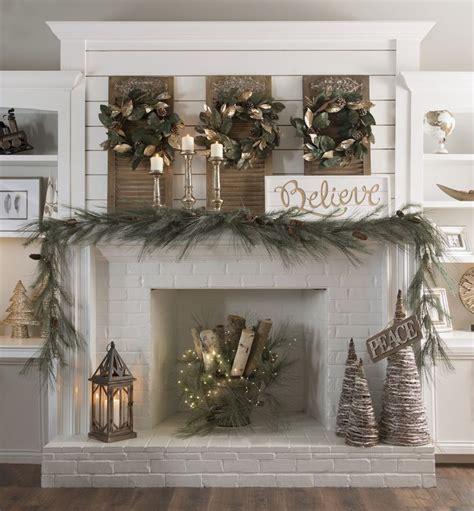 christmas fireplace ideas  pinterest