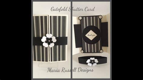 gatefold shutter card youtube