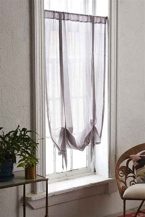 draped shade curtain plum bow gauze draped shade curtain outfitters
