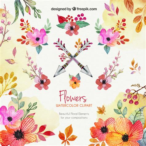 free watercolor clipart watercolor flowers clipart vector free
