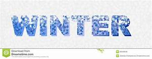 Winter Banner Writting Royalty Free Stock Image - Image ...