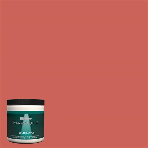 behr marquee 8 oz ppu1 5a red coral semi gloss enamel