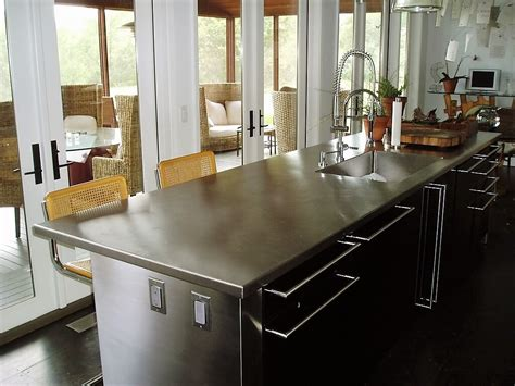 countertops for kitchen islands stainless steel countertop custom