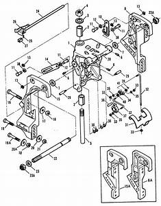 Force 70 Hp  1991  Stern Brackets  Manual Tilt  Parts