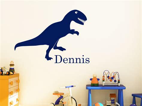 Kinderzimmer Junge Dino by Dinosaurier Wandtattoo Dino Mit Wunschname Wandtattoo Net