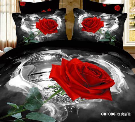 6pcs fashion unique black printed 3d bedding sets