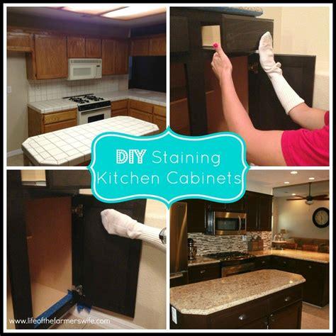 diy restain kitchen cabinets best 25 staining oak cabinets ideas on 6886