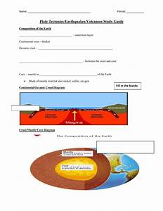 Plate Tectonics  Earthquakes  Volcanoes Study Guide