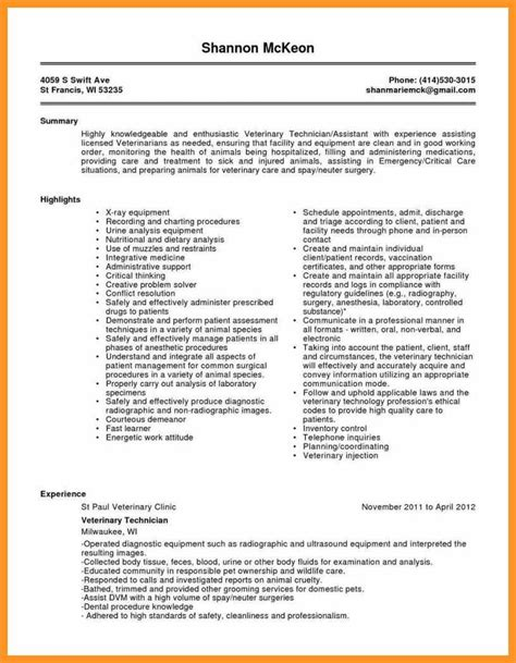 Resume Template Tech by Ophthalmic Technician Resume Sle Bio Letter Format