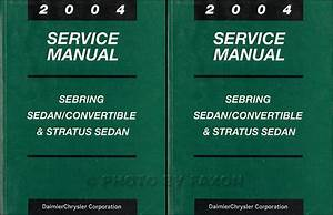 2004 Sebring  U0026 Stratus Coupe Repair Shop Manual Original 4 Volume Set