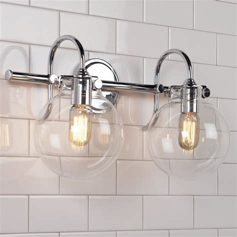 retro glass globe bath light 1 light shades of light