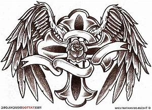 Tattoos angel wings with cross | Tattoo Collection
