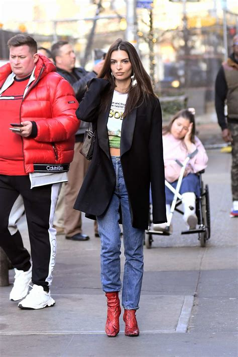 emily ratajkowski keeps it trendy as she steps out for ...