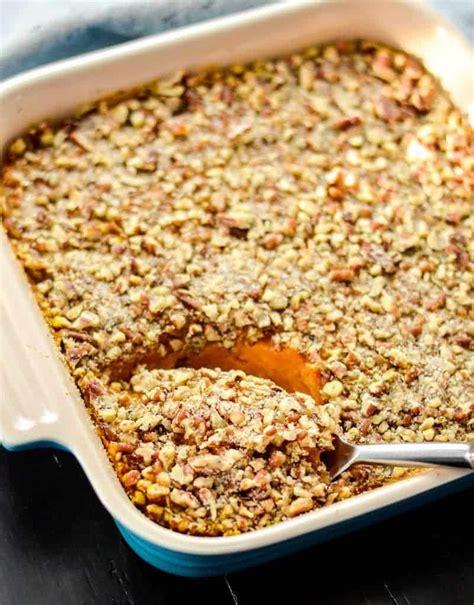 Healthy Sweet Potato Casserole {paleo, Vegan & Sugarfree