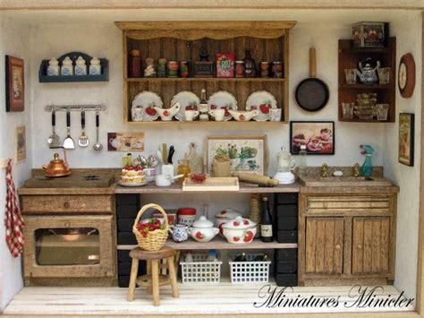 cucine in miniatura miniatura dollhouse cucina roombox vecchio stile di